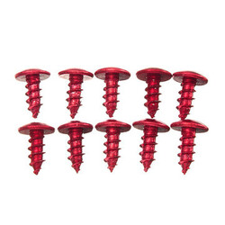 Motorcycles Scooters Screws Titanium Alloy M5 Bikes ATVs Bolt Thread 10pcs Modified