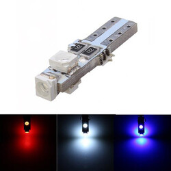 LED Instrument Light 5W 3528 SMD Blue White T5 Red Wedge Light Bulb