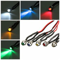 6mm Car Boat Truck LED Indicator Pilot Light Dashboard