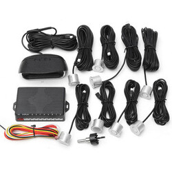 Car Parking Rear Reverse Backup Radar System Kit Sensors Auto LCD Front