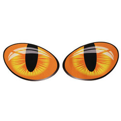 3D Funny Decal Window Door Big Reflective Eyes Motorcycle Car Stickers Cat