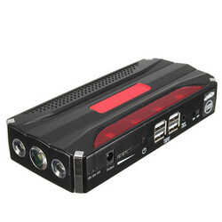 Rechargable 4USB Car Jump Starter Power Bank 12V Battery Multi-function