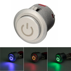 Push Button Switch Autolock 3 Colors Power 12V 10A LED ON OFF 22mm