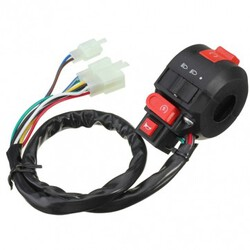 8inch Headlight ATV Horn Universal Switch Handlebar Motorcycle Electrical Start Indicator
