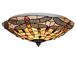Fixture Inch Dining Room Ceiling Lamp Living Room Shell Shade Retro Flush Mount