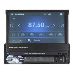 Audio MP5 7 Inch Car Stereo MP3 FM Radio MP4 AUX DVD Player Bluetooth Retractable