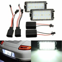 18 LED White Licence Number Plate Light 2 X Cordoba Seat