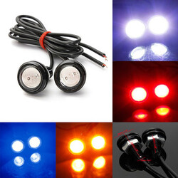 2 x Car White Light Daytime Running Backup Lamp LED Eagle Eye 3W
