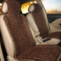 Comfortable Cool Massage Wooden Seat Cover Wood Car Cushion Natural