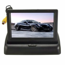 Rear View Backup Kit LCD Foldable Reversing Camera 4.3 Inch Monitor Car Wireless
