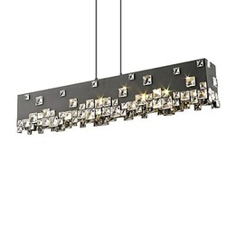 Modern/contemporary Crystal Chrome Metal 40w Chandeliers