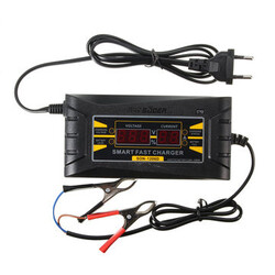 12V 6A Car Motorcycle PWM Cable Battery Charger Lead-acid Digital LCD Smart