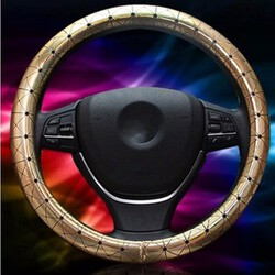Leather Car Steel Ring Wheel Car All Seasons Universal 38CM