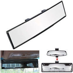 Clip On Auto Car Truck Curve Rear View 270mm Mirror Universal Interior Wide