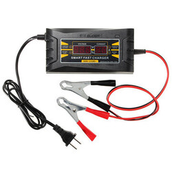 12V 10A LCD Display Smart Fast Battery Charger Car Motorcycle