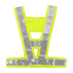 Stripe Reflective Safety High Visibility Traffic Security Vest Gear