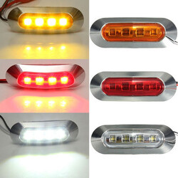 ABS Tail Trailer Truck Lamp Indicator LED Side Marker Light 2W Universial Boat
