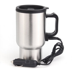 Heater Car Cup 12V Stainless Auto Electric Kettle Water With Cable Pot