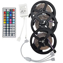 Tape 5m Leds Strip Flexible Light Led Remote Controller 15w String Light Kit Rgb