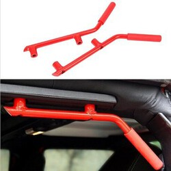 Roll Bar Grab Car Red Metal Rear Seat JEEP WRANGLER JK 07-16 Handle