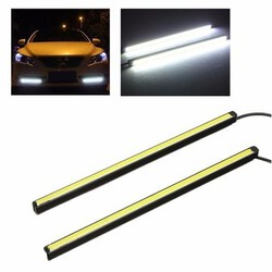 Pair 20CM COB LED DRL Daytime Running Foglight Light Car Strip Tail Lamp