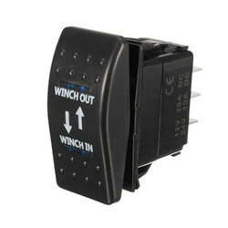 LED Momentary 12V 20A 7-Pin Winch In Winch Rocker Switch