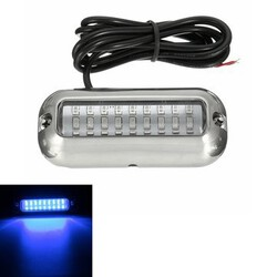 50W Transom Pontoon Blue Boat Waterproof LED Under Water Lights 3.5inch