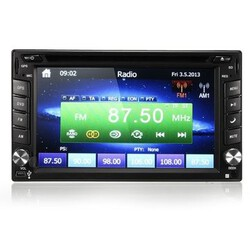 iPod MP3 2DIN GPS Navigation Camera HD Car Stereo DVD Player Bluetooth 6.2 Inch
