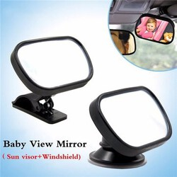 Convex Baby Safety View Mirror Car Baby Mini Tirol Adjustable Car Mirror Rear