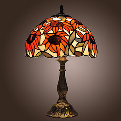 Tiffany Style Finish Sunflower Bronze Table Lamp
