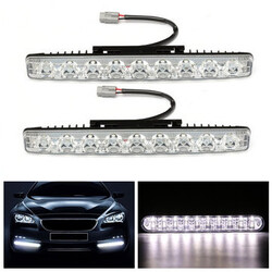 Car DRL Daytime Universal Vehicle Driving Running Light Fog Lamp Pair 18W 9LED