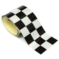 3 Inch Car Motorcycle Bike Checkered Sticker Tank Tape Black White Flag Vinyl Decal