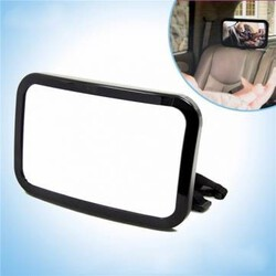 Baby Convex Mirror Car Safety Mirror Tirol Baby Safety Auto Rear Adjustable Black Rectangle