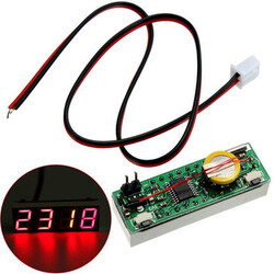 Car 3 in 1 Digital LED Electronic Voltage Temperature Electronic Clock Time