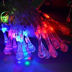 Droplets Water String Light Decoration Led Christmas Ac 110-220v 20leds Rgb