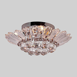 Flush Mount Max 60w Modern/contemporary Feature For Crystal Metal Living Room Electroplated Bedroom