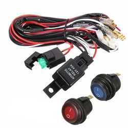 ON OFF Switch ATV 12V 40A Wiring Harness LED Light Bar Vehicles Off Road Relay Jeep