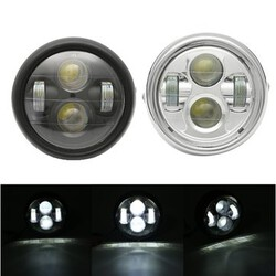Round Headlight Bulb Universal Cafe Racer Hi Lo Beam 12V Motorcycle LED