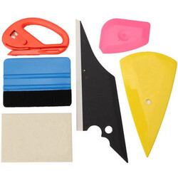 6pcs Tool Window Glass Cutter Tinting Vinyl Sticker Scraper Squeegee Felt