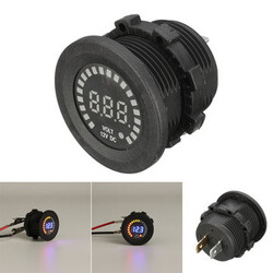 12V LED Meter Panel Digital Voltage Auto Car Motorcycle Display Socket Voltmeter