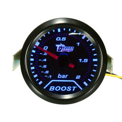 Press Boost Vacuum Turbo Bar LED Pointer Gauge Meter Universal Car Auto 2inch 52mm