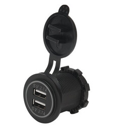 Car Motorcycle 5V 4.2A Dual USB Charger Socket 12V 24V Outlet