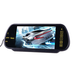 Parking 7 Inch LCD Reversing Camera Car Rear View Mirror Monitor Bluetooth MP5