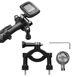 Bar Mount Motor Bike Holder Adapter Roll Garmin Edge Cycle GPS 25 GPS