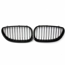 M5 E60 E61 Black Front Sport Pair Wide Kidney Grille Grill for BMW