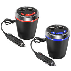 Car Bluetooth Cup Charger USB MP3 Player Handsfree Car Kit 2 Port