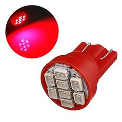 Red Super Bright LED Car Light Wedge Bulb T10 8-SMD Ultra