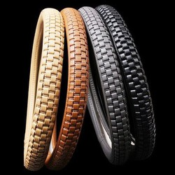 Cowhide Leather Steel Ring Wheel Plaited Genuine Grid 38cm Car