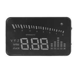 9V Detector HUD X5 12V PC Alarm inch Screen OBD2 Monitor Vehicle HD 3 Inch Colorful
