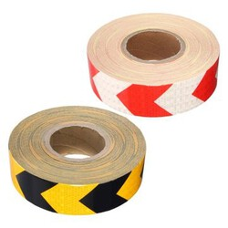 Sticker Red White 1M Strips Arrow Black Warning Traffic Yellow Safety Reflective